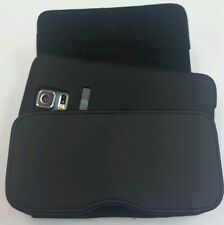 XL LEATHER  BELT CLIP HOLSTER POUCH FOR SAMSUNG GALAXY S5  FIT A HARD CASE ON