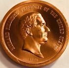 USA - President Millard Fillmore 1850 - High Relief Copper Medal
