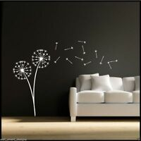 Dandelion Clock Seeds Wall Decal Sticker Transfer Stencil Mural Art Interior