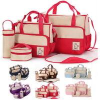 Baby Changing Diaper Nappy Multifunctional Bag Mummy Mother Handbag 5 pcs/set