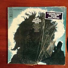 "BOB DYLAN Greatest Hits Milton Glaser POSTER  Original 1967 KCS9463  12"" 33 RPM"
