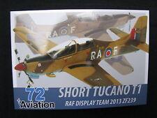 Post Card Aviation 72 Short Tucano T1 RAF Display Team 2013 ZF239