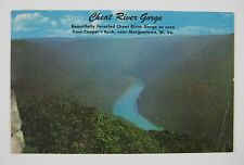 Cheat River Gorge Cooper's Rock West Virginia WV Postcard~PM Morgantown, W.VA.