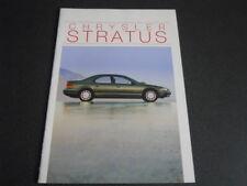 CHRYSLER STRATUS brochure catalogue documentation - édition 4/1995 en Français