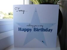 Handmade Personalised Male Birthday Card ANY COLOUR 16th 18th 21st 30th 40th 50