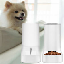 Automatic Pet Food Water Dispenser Dog Cat Feeder Waterer Dish Bowl Drinking NEW