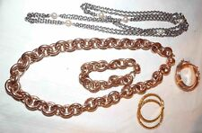 NICE LOT OF MILOR BRONZE & STAINLESS JEWELRY NECKLACES, EARRINGS, & MORE  *LQQK*