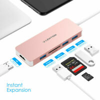 LENTION USB C Hub Typ C to USB 3.0 HDMI Adapter SD Card Reader for MacBook Pro