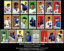 2016 CHICAGO CUBS T206 21 CARD SET WORLD SERIES KRIS BRYANT ROSS RIZZO MADDEN