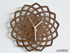 Wooden Geometrical Star Silhouette - Wooden Wall Clock.