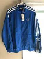 new Adidas Mens M originals Lock up Track top jacket blue bird ED6093
