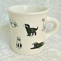 FISHS EDDY Dog Commands Coffee Mug Cup Restaurantware