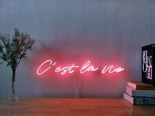 C'est La Vie Real Neon Sign Beer Bar Light Home Decor Hand Made Artwork