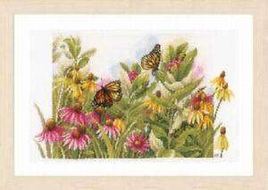 Butterflies & Coneflowers - Marjolein Bastin/Lanarte Kit w/27 Ct. Evenweave