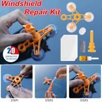 Cracked Glass Repair Kit Windshield Kits DIY Cars Window Tool Glass Scratch New