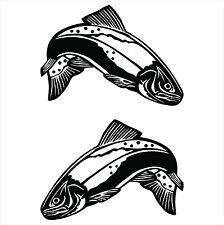 TROUT fish marine grade vinyl decals sticker set for boat,tinny,kayak,car,4x4!