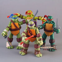 4Pcs/Set Teenage Mutant Ninja Turtles Action Figures Toy TMNT Kid Birthday Gift