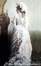Edwardian Lady in a Lovely Flowered Dress  - Historic Photo Print