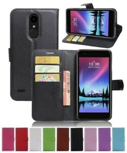Wallet Leather Flip Card Holder Case Pouch Cover For LG K10 2017 Genuine AuSelle