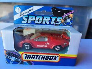 MATCHBOX - LAMBORGHINI COUNTACH [RED] NEAR MINT VHTF BOX GOOD COMBINED POSTAGE