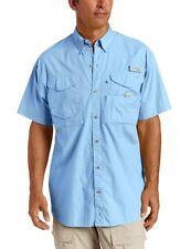 NEW Men's Columbia PFG XL Bonehead Shirt Blue S/S Fishing Breathable Rod Pocket