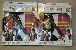 (2) HARRY POTTER GRYFFINDOR 5 PIECE COSTUME DRESS UP SETS NEW Cosplay Sz 4-10
