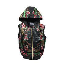 ladies gilet body warmer jacket black floral Padded Warm, trendy, size 12, NEW