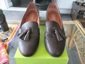 HOTTER 'TALIA' (brown tassle loafer) Size 6UK