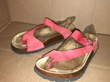 Betula Size 40 Regular Coral Leather Sandals