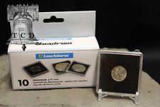 5 Seated / Barber Dime 2x2 Coin Snaplock Capsule 18mm LIGHTHOUSE QUADRUM Case