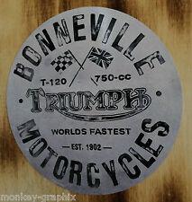 Oldschool Bonneville Triumph Aufkleber Bike Chopper Bobber Caferacer Retro V2