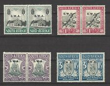 SOUTH WEST AFRICA, # B/1-4, MHG,  VOORTREKKERS MONUMENTS,  Semi-Postals Pairs