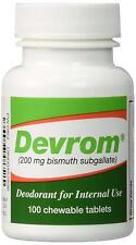DEVROM Internal Deodorant For Gas & Stool Odor Chewable Tablets, 100 Tablets