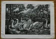 STUDY OF SWANS 2 BY KATHLEEN MARY BELL