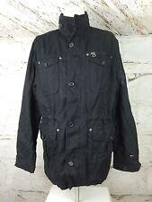 Men's Tommy Hilfiger Denim Black Cotton Military Inspired Jacket Large (1027)