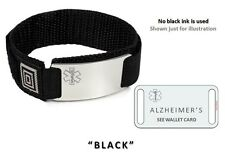 ALZHEIMER'S Sport Medical/Alert ID Bracelet. Free medical Emergency Card!