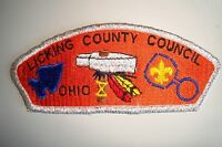 OA LICKING COUNTY COUNCIL SHOULDER PATCH CSP SMY WHITE PLASTIC BACK SERVICE FLAP