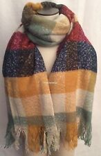 NWT Zara 2014 Checked Sold Out Blogger Favorite Scarf Unisex