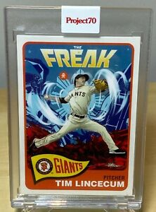 TIM LINCECUM 1965 2021 TOPPS PROJECT 70 by QUICCS GIANTS CARD #191 READY TO SHIP