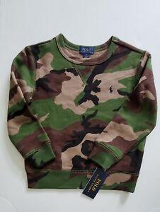Polo Ralph Lauren Big Boys Camo Sweatshirt Green Multi Sz M (10-12) - NWT