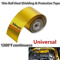"Aluminum alloy mylar 2"" x 33' Exhaust High Temperature insulation Wrap Tape NEW"