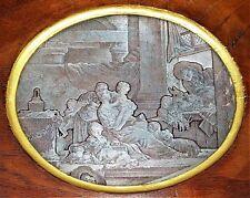 L'HEUREUSE FECONDITÉ. PLAQUE CUIVRE POUR GRAVURE.CERCLE DE DELAUNAY.FRANCE.XVIII