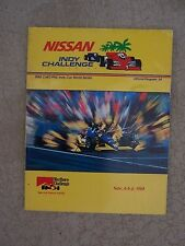 1988 Nissan Indy Challenge Auto Race Program CART/PPG Indy Car World Series  S