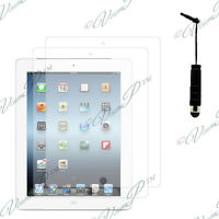 2x Films protection protecteur écran mini stylet  IPAD 4 3 2 Nouvel iPad Retina