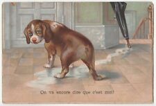 Vintage Dog Comic Postcard (missing tail), #a790