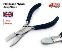 Flat Nose Nylon Jaws Pliers Bead Jewellery Wire Art Work Opticians Craft Tool