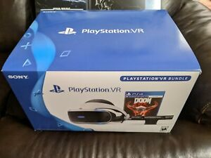 Complete PS4 VR Bundle Doom VFR w/4 move controller w/ Sealed Rick/Morty PSVR v2