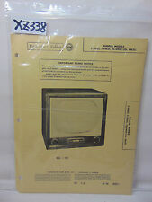 SAMS PHOTOFACT FOLDER MANUAL & SCHEMATIC TV ANDREA C-VN21 T- 2C- CH. VN21