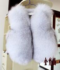 100% Real genuine blue (Vulpes lagopus) fox fur gilet waistcoat