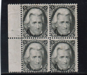 USA #73 Mint Left Margin Block Full Original Gum Slight Gum Toning